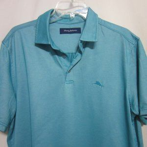 MENS TOMMY BAHAMA, LARGE, DK TEAL POLO TOP